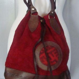 Handbags - 100% Leather Cinched Hand/Shoulder Bag